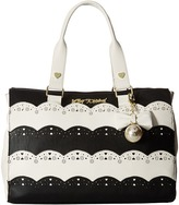 Betsey Johnson Lazer Cut Tote
