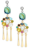 Gerard Yosca Colorful Cluster Drop Earrings