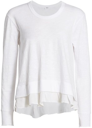 Wilt Layered Hem Sweatshirt