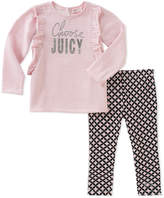 Juicy Couture Pink 'Choose Juicy' Tee & Leggings - Infant, Toddler & Girls
