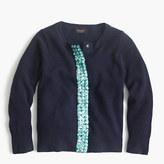 J.Crew Girls' embellished cashmere cardigan sweater