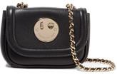 Hill & Friends Happy Tweency Textured-leather Shoulder Bag - Black