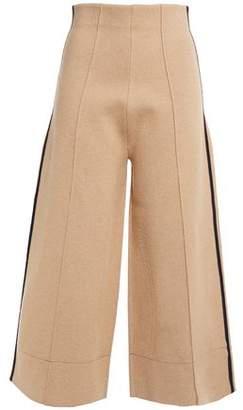 Victoria Victoria Beckham Victoria, Victoria Beckham Cropped Striped Stretch-knit Wide-leg Pants