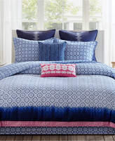 Echo Reversible Shibori Queen Comforter Set Bedding