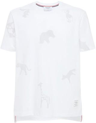 Thom Browne Animal Print Cotton T-Shirt