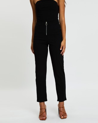 Missguided Zip Front Cigarette Trousers