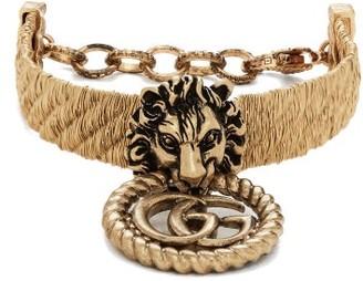 Gucci Lion-head Bracelet - Gold