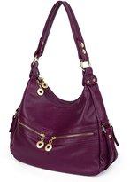 UTO Women Handbag PU Leather Purse Hobo Style Shoulder Bag Brown