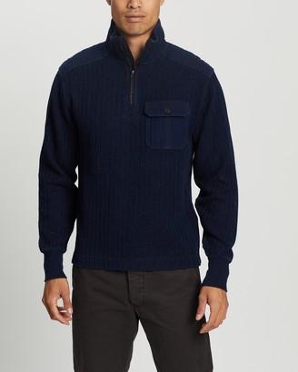 Ralph Lauren RRL Half-Zip Mock Neck Long Sleeve Knit