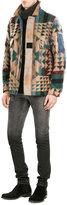 Valentino Virgin Wool- Mohair Blend Printed Jacket