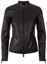Reiss Serge Slim Fit Leather Jacket