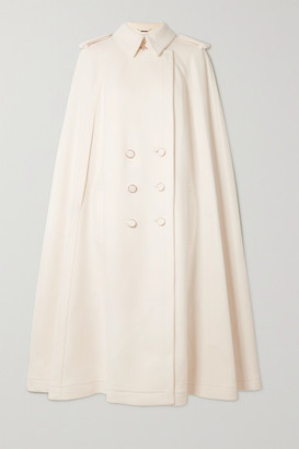 RALPH & RUSSO Cape-effect Double-breasted Wool And Cashmere-blend Coat - White