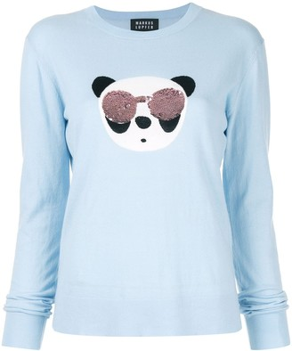 Markus Lupfer Tracy Panda sequin sweater