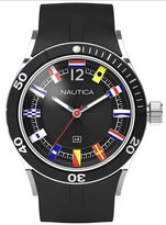 Nautica Men's NSR Date Flag Dial Resin Strap A13525G