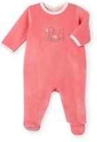 Petit Bateau Babys unisex velour pajamas with front motif