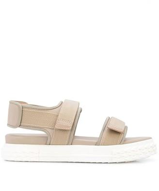 Giuseppe Zanotti Touch Strap Flat Sandals