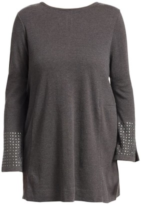 Nic+Zoe, Plus Size Studded Cuff Top