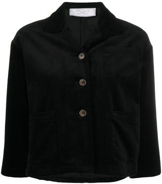 Societe Anonyme Cropped Sleeve Corduroy Jacket