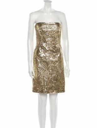 Kaufman Franco Kaufmanfranco Silk Mini Dress Gold Kaufmanfranco Silk Mini Dress