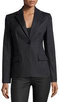 Versace Long-Sleeve One-Button Blazer, Black
