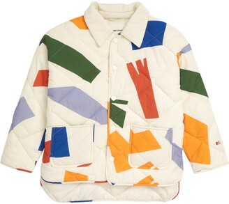 Bobo Choses Shadows Abstract Print Quilted Organic Cotton Jacket