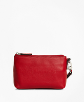 Brooks Brothers Pebble Leather Clutch