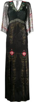 Etro floral brocade long dress