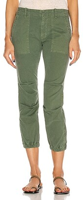 Nili Lotan Cropped Military Pant in Green