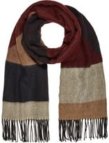 River Island Brown Geometric Block Scarf