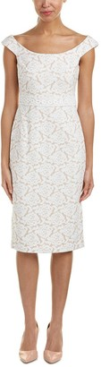Maggy London Women's Natural Bloom Jacquard Sheath 6