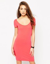 Asos Scoop Front and Back Bodycon Mini Dress