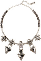 Steve Madden Faceted Hematite Stone Triangle Collar Necklace