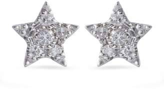 Djula White Gold and Diamond Magic Touch Star Earrings