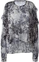 Faith Connexion ruffled sleeve sheer blouse