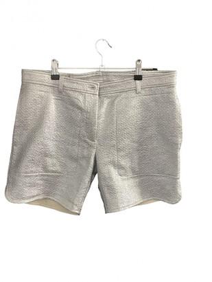 MAISON KITSUNÉ Silver Cotton Shorts