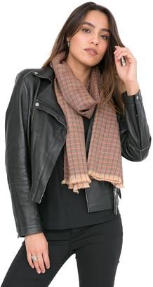 likemary 100% Pure Merino Wool Scarf Heritage Checks Traditional Plaid Handwoven & Ethical Women's Fashion Orange