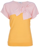 Sonia Rykiel Sonia By bow fitted two-tone top