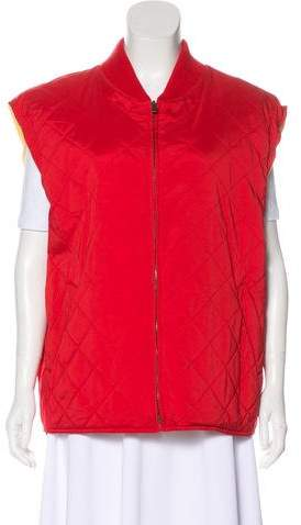 Loro Piana Quilted Cap Sleeve Vest
