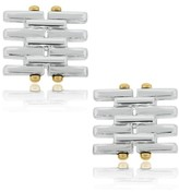 Tiffany & Co. 18K Yellow Gold and Sterling Silver Gate Cuff Links