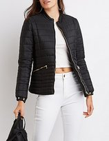 Charlotte Russe Quilted Puffer Jacket