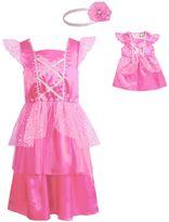 Dollie & Me Girls Flutter Sleeve Satin Princess Dress