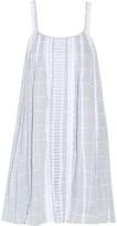 Jonathan Simkhai Embroidered cotton-voile mini dress