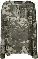 Alexandre Vauthier camoflage blouse - women - Silk - 38