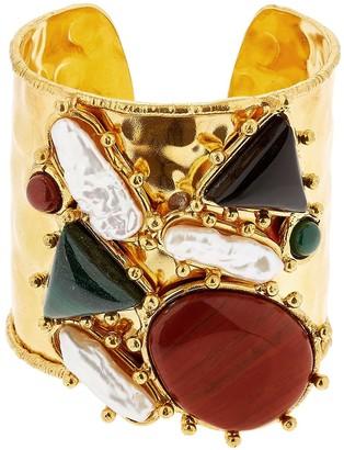 Sylvia Toledano Manchette Artsty Cuff Quartz Bracelet