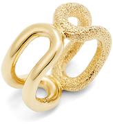 Diane von Furstenberg Textured Cut Out Ring