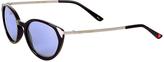 Betsey Johnson Black & Blue Cat-Eye Sunglasses