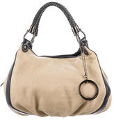 Philosophy di Alberta Ferretti Leather-Trimmed Canvas Bag
