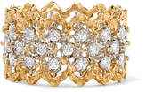 Buccellati Rombi 18-karat Yellow And White Gold Diamond Ring - 52