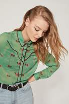 Urban Outfitters Clementine Sheer Button-Down Shirt