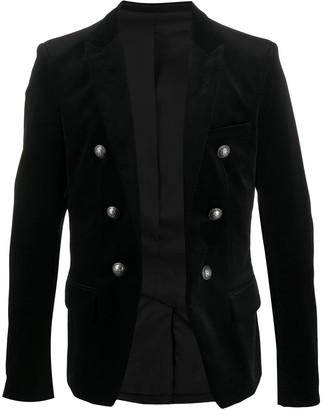 Balmain Double Buttoned Velvet Jacket